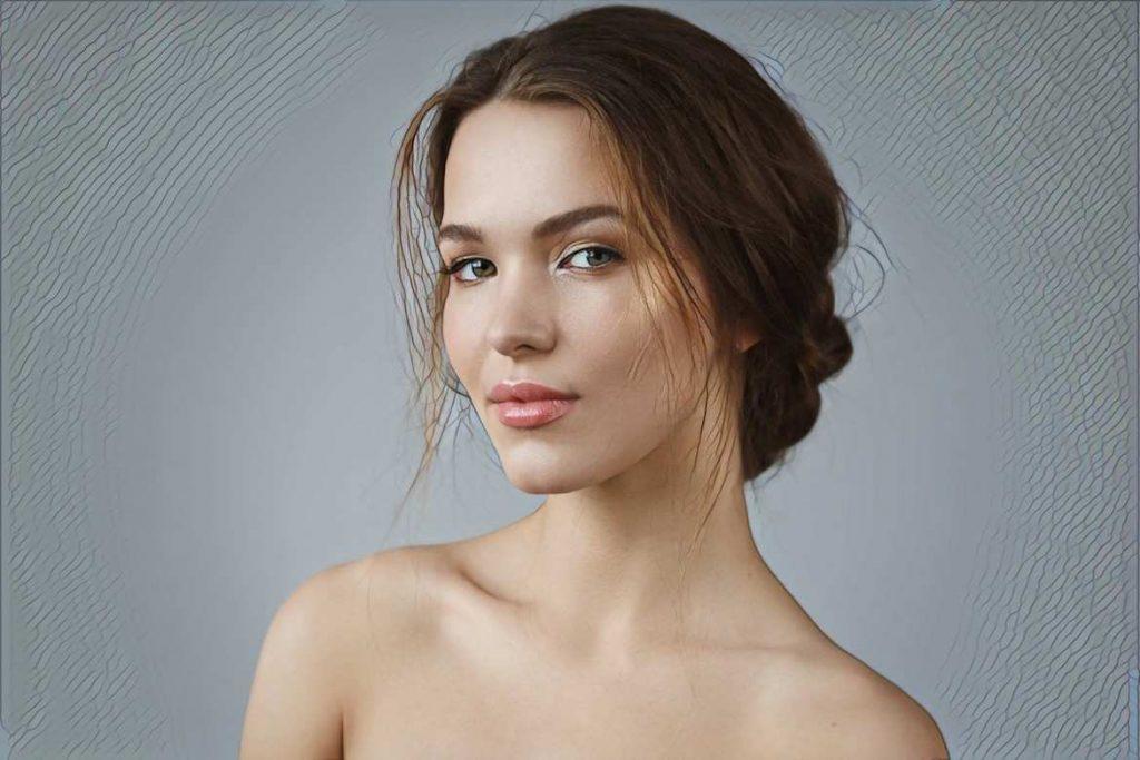девушка после биоревитализации кожи лица