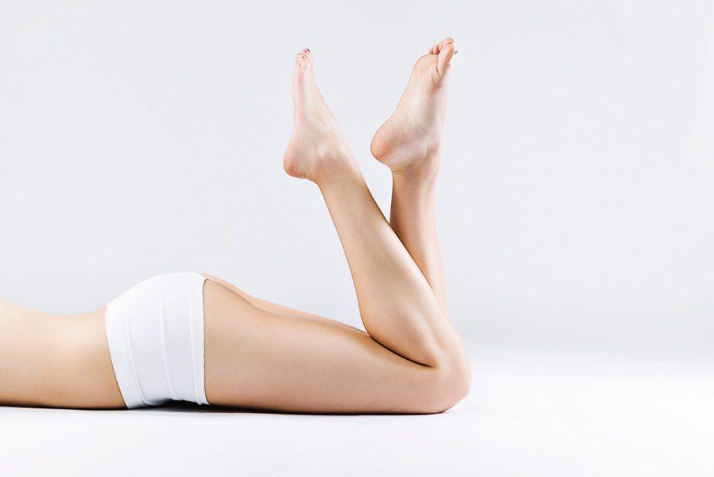 гладкость ног после электроэпиляции