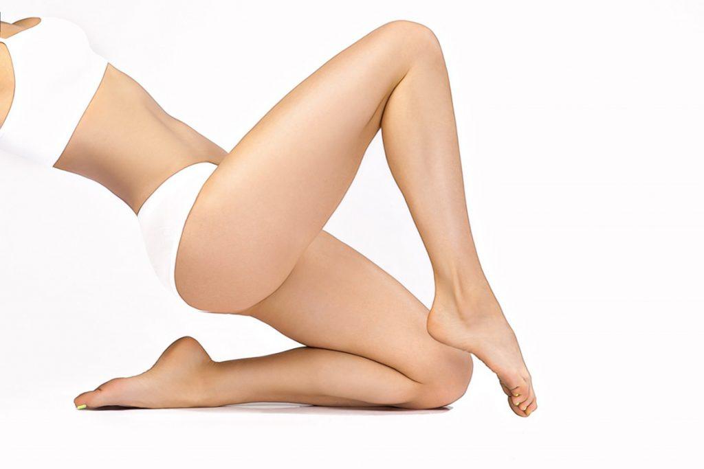гладкость ног после домашней эпиляции